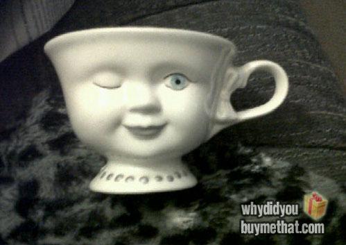 Winking mug