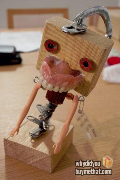 False teeth ornament
